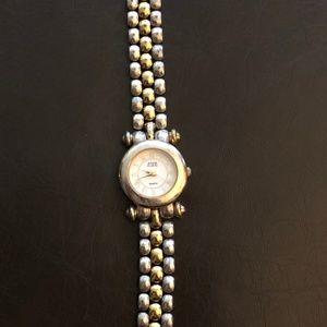Anne Klein Silver & Gold Watch